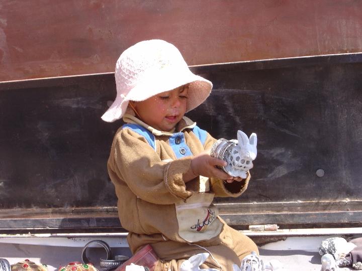 Petra. Bimba beduina