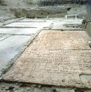 Il grande tablinum all'epoca degli scavi