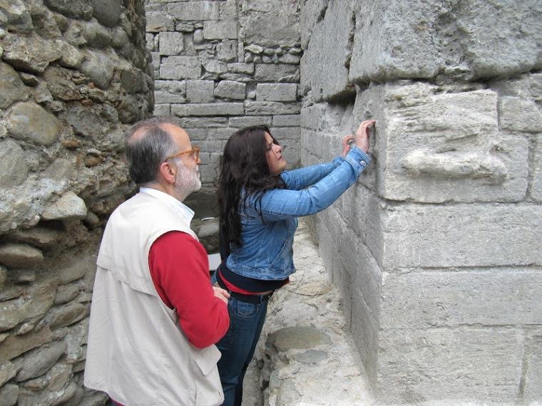 Ricordi. Nel 2012 col Prof. Elio Antonello, presidente della SIA (Società Italiana di Archeoastronomia) in visita al cantiere dei Balivi.