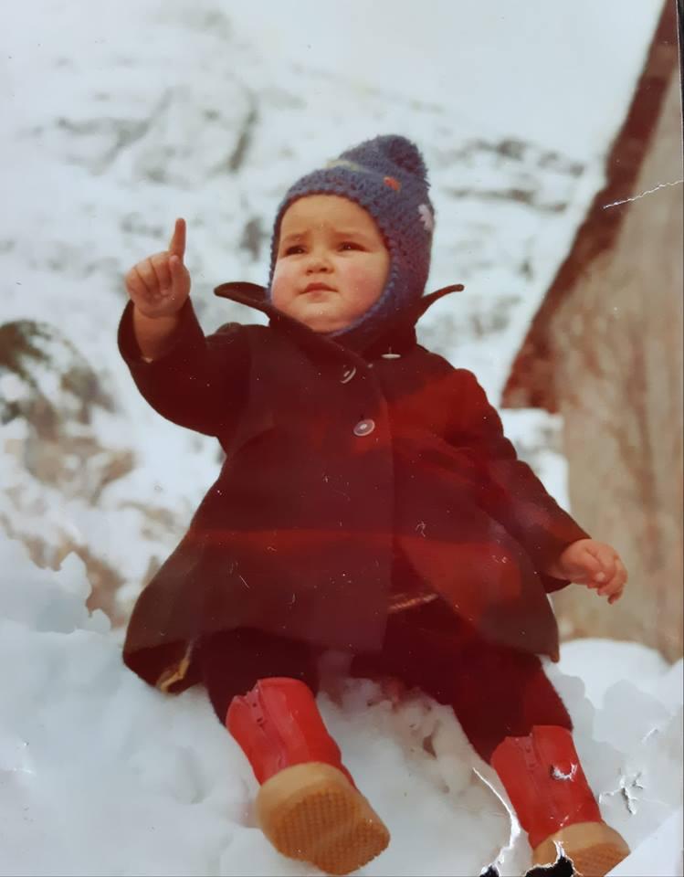 Io a 3 anni e ... il cielo d'inverno!