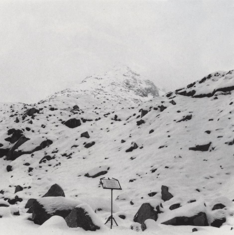 La Fata del ghiacciaio della Brenva-Courmayeur (Foto: Giuliana Cuneaz)