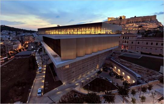 Nuovo Museo dell'Acropoli. Atene, Grecia