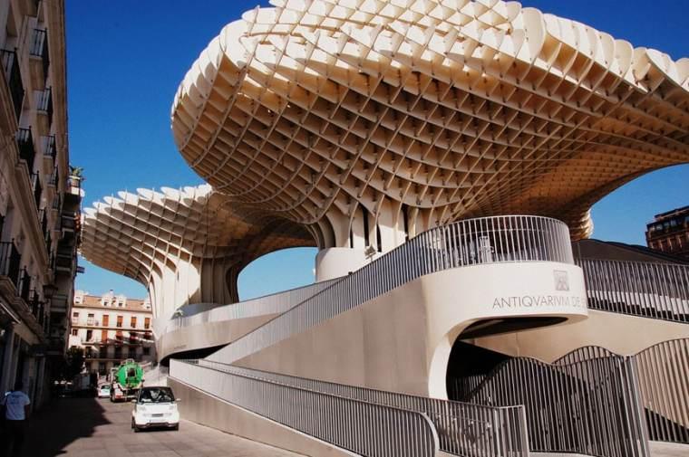 Metropol Parasol Antiquarium-museo archeologico. Siviglia, Spagna