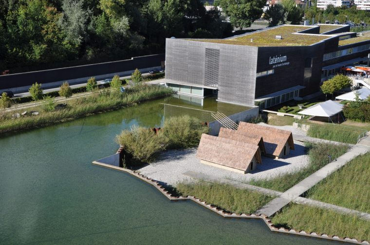 Laténium-le plus grand musée archéologique de Suisse. Neuchatel, Vallese, Svizzera