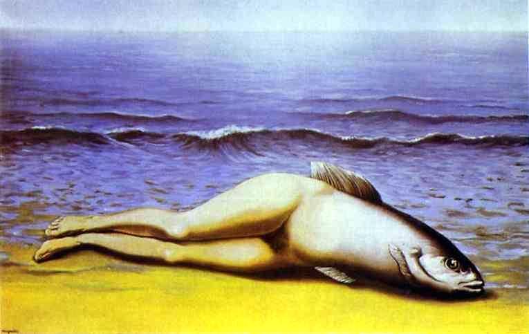 """""""La Sirena rovesciata"""". Magritte (1937)"""