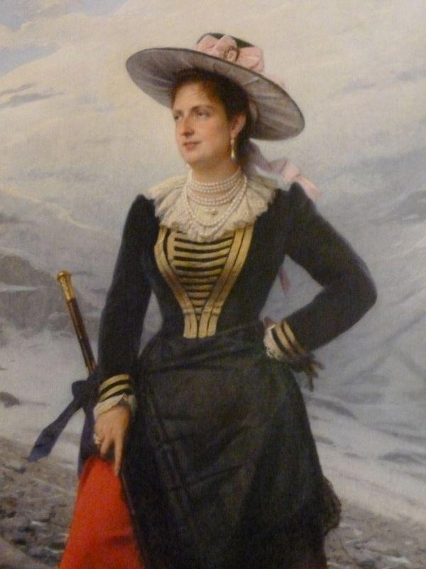 Ritratto della regina Margherita di Savoia col costume di Gressoney