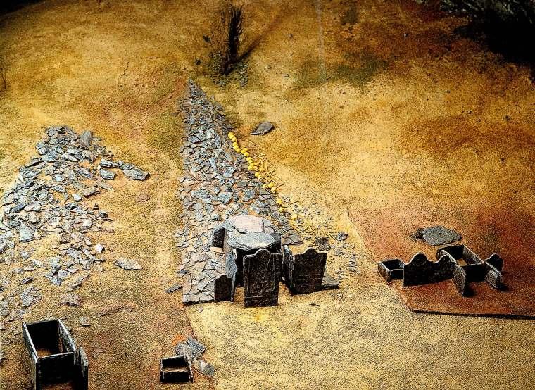 Disegno ricostruttivo dell'area dolmenica (www.vs.ch)