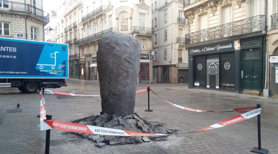 menhirs en ville-Nantes-PresseOcean