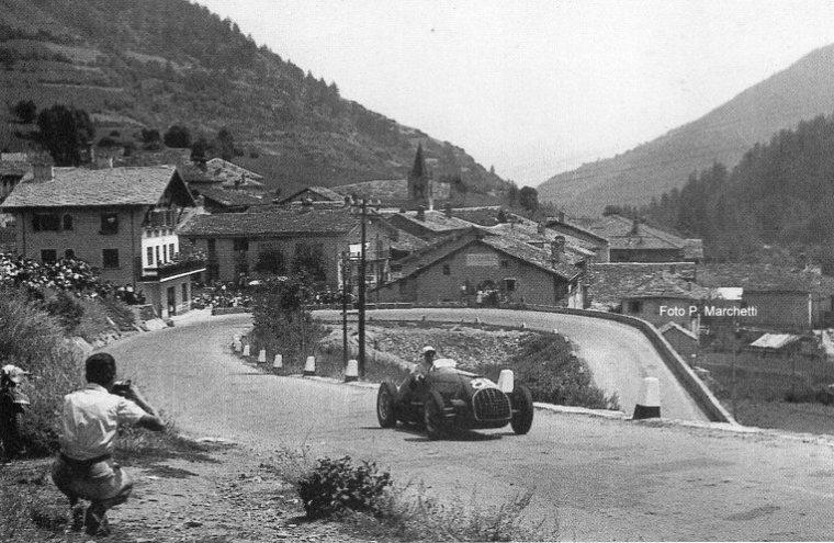 Il curvone di Etroubles nel 1955- foto di P. Marchetti gentilmente concessa da Sandra Moschella
