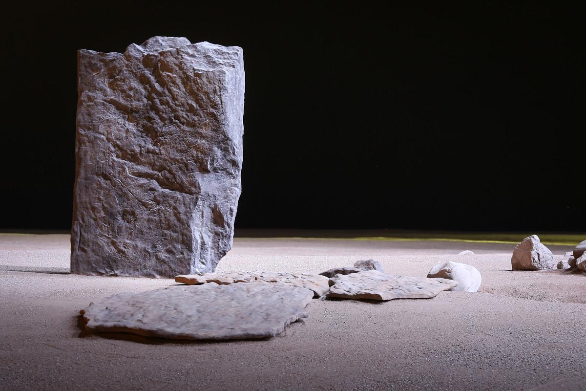 Stele area megalitica di Aosta (foto Enrico Romanzi)