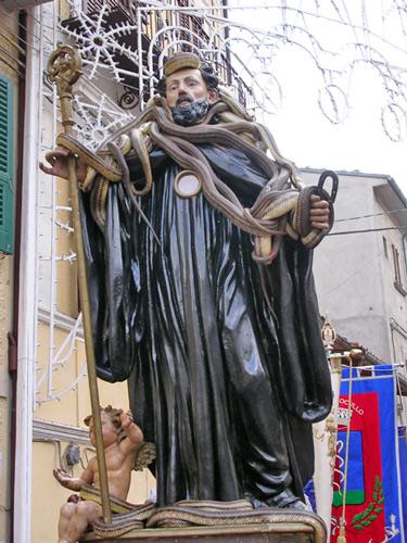 San Domenico di Sora durante la festa dei Serpari