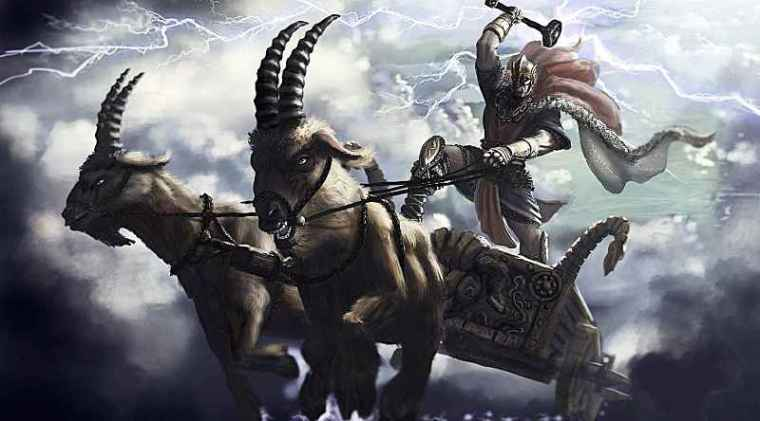 Thor sul suo carro (VitAntica)