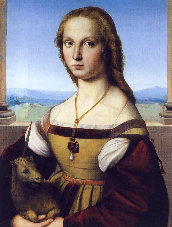 Raffaello, Dama col Liocorno (1505-1506), Galleria Borghese, Roma