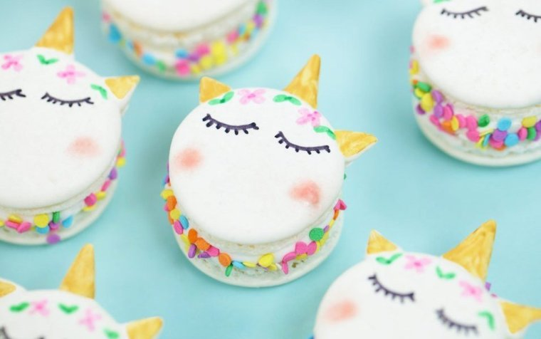 Unicorn-Macarons (Rosanna Pansino)